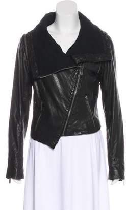 Line Leather Biker Jacket