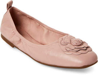 Taryn Rose Blush Rosalyn Leather Ballet Flats