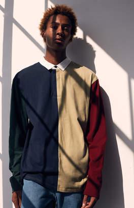 GUESS Pacsun Falon Colorblock Long Sleeve Polo Shirt