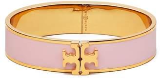 Tory Burch Enameled Raised-Logo Hinged Bracelet