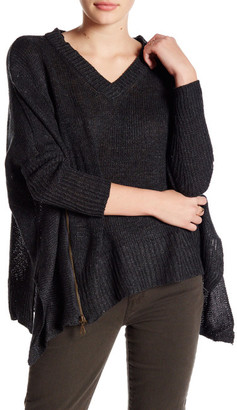 Romeo & Juliet Couture Asymmetrical V-Neck Sweater $155 thestylecure.com