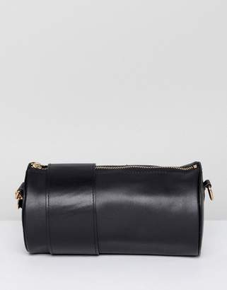 Asos DESIGN Cylinder Cross Body Bag In Black