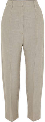 MM6 MAISON MARGIELA Checked Stretch-jersey Straight-leg Pants - Beige