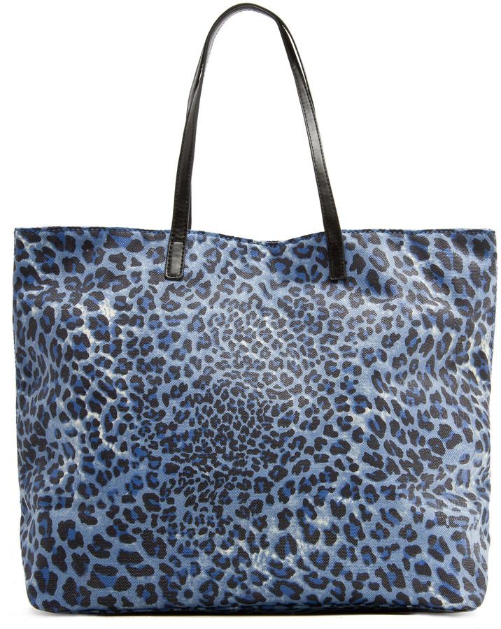 MANGO Animal print shopper handbag