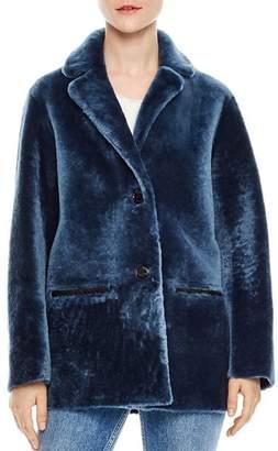 Sandro Adonis Shearling Coat