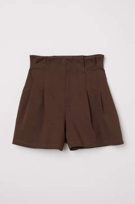H&M Paper Bag Shorts - Brown