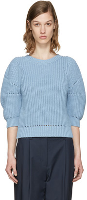 3.1 Phillip Lim Blue Cotton Sweater $350 thestylecure.com