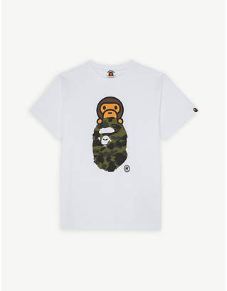 A Bathing Ape Logo print cotton T-shirt 4-8 years