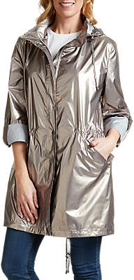 Four Seasons PU Fishtail Parka Coat, Bronze