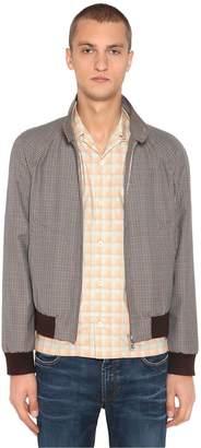 Prada Wool & Mohair Check Bomber Jacket