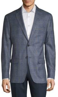 Lauren Ralph Lauren Plaid Wool-Blend Suit Jacket
