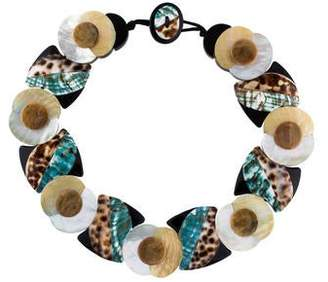 Viktoria Hayman Mother of Pearl, Shell & Resin Necklace