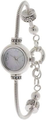 Prerogatives Sterling Bead Bracelet Watch - Adjustable Length