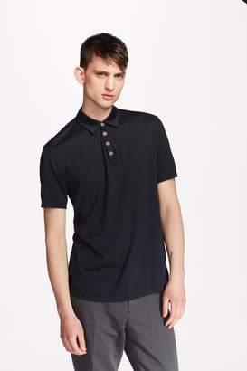 John Varvatos Hampton Stripe Silk & Cotton Polo