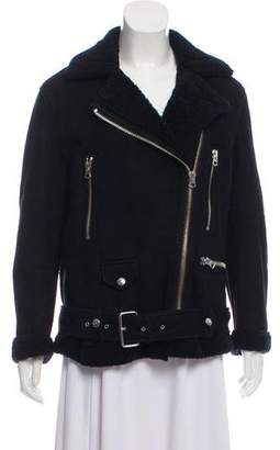Acne Studios Leather-Accented Shearling Jacket
