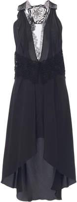 Victoria Beckham High-Low Crepe De Chine Silk Dress