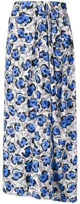 Christian Wijnants floral print draped skirt
