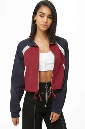 Forever 21 Colorblock Zippered Jacket