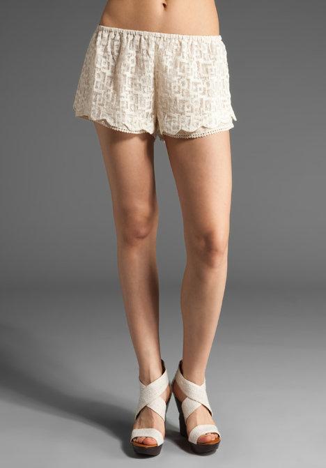 Patterson J. Kincaid Patterned Lace Cammy Lace Shorts