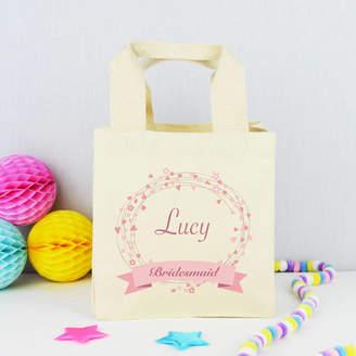 Andrea Fays Personalised 'Bridesmaid' Wedding Bag