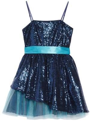 Un Deux Trois Sequin & Tulle Dress