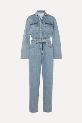 A Gold E AGOLDE - Tatum Belted Denim Jumpsuit - Mid denim