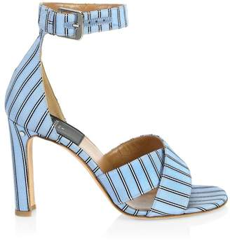 1e692ba984a Blue Covered Heels Sandals For Women - ShopStyle UK