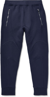 Neil Barrett Slim-Fit Bonded Stretch-Jersey Sweatpants $570 thestylecure.com
