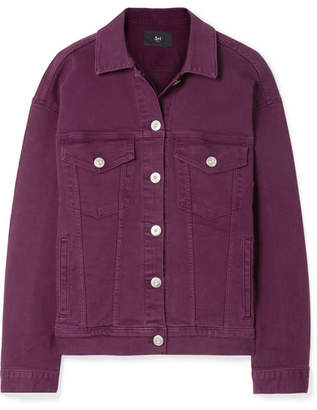 3x1 Oversized Denim Jacket - Burgundy