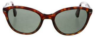 Persol Tinted Round Sunglasses