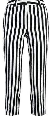 Topshop Harleyford Striped Cotton-Blend Slim-Leg Pants