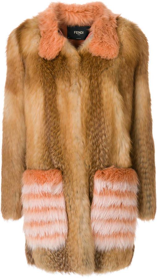 Fendi oversized fur coat