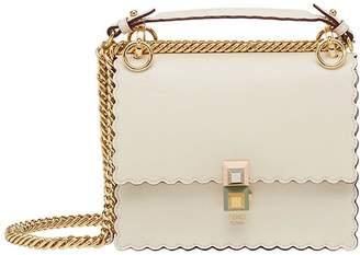 Fendi cream Kan I scalloped leather handbag