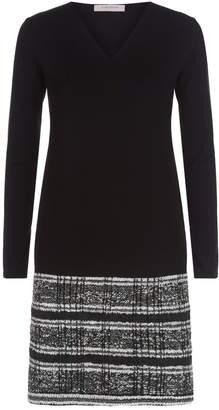 D-Exterior D.Exterior Knitted Tweed Hem Dress
