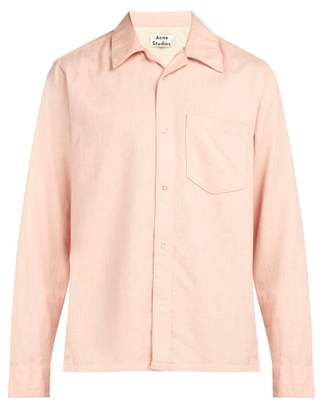 Acne Studios Long Sleeved Cotton Shirt - Mens - Pink