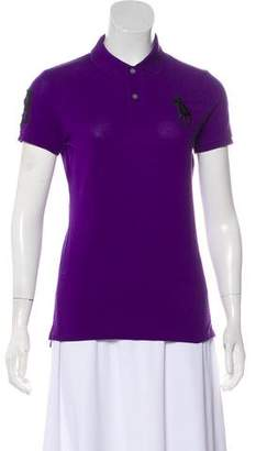 Ralph Lauren Short Sleeve Embroidered Polo Top