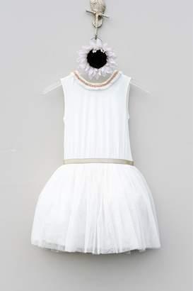 Imoga Girls' Cream Dress