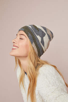 Anthropologie Kitted in Cashmere x Camo Cashmere Beanie
