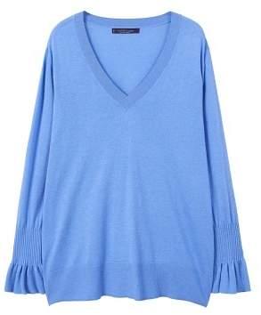 Violeta BY MANGO V-neck cashmere sweater