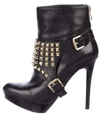 MICHAEL Michael Kors Leather Platform Booties