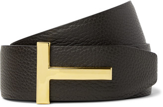 Tom Ford 4cm Black and Dark-Brown Reversible Full-Grain Leather Belt - Men - Brown