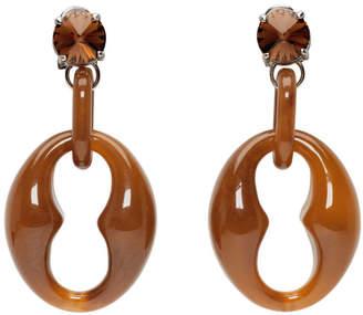 Prada Brown Chunky Earrings