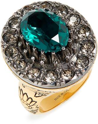Alexander McQueen Swarovski Crystal Cocktail Ring