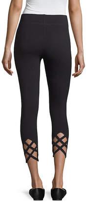 MIXIT Mixit Criss Cross Capri Womens Slim Legging - Petite