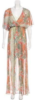 Alice + Olivia Silk Printed Maxi Dress