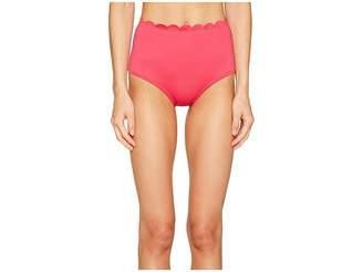 Kate Spade Core Solids #79 Scalloped High-Waist Bikini Bottom
