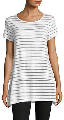INC International Concepts Asymmetric Stripe Top