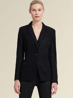 DKNY Printed One-button Blazer