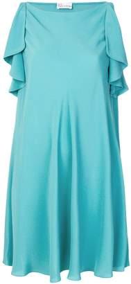 RED Valentino ruffle sleeve dress