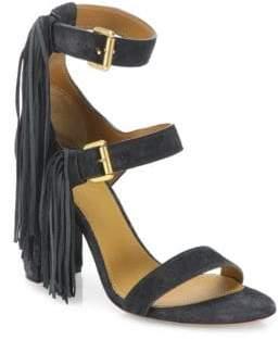 Ann Demeulemeester Fringe Leather High-Heel Sandals